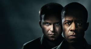 Rory Kinnear as Iago and Adrian Lester as Othello