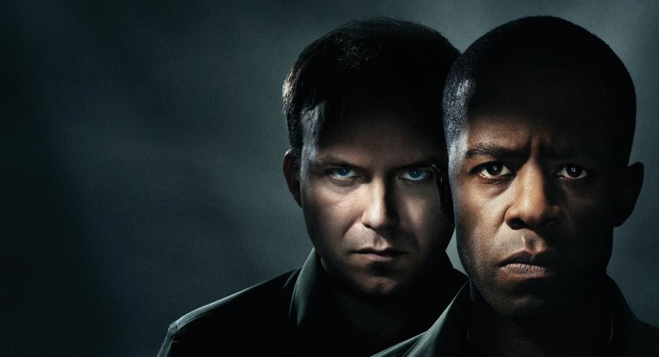 Rory Kinnear as Iago and Adrian Lester as Othello