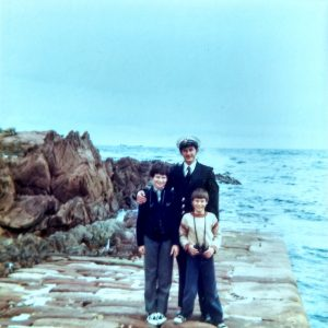 My dad, me, and my little brother Alan