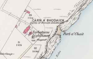 Carn A Bhodaich - Ordnance Survey 1873 - Crown Copyright